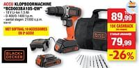 Black + decker accu klopboormachine bcd003ba10s-qw-Black & Decker
