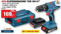 Bosch accu klopboormachine gsb 18v-21-Bosch