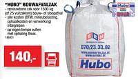 Hubo bouwafvalzak-Huismerk - Hubo