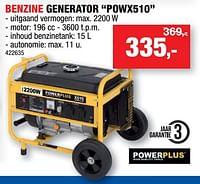 Powerplus benzine generator powx510-Powerplus