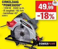 Powerplus cirkelzaag powe30050-Powerplus