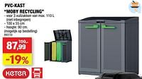 Pvc-kast moby recycling-Keter