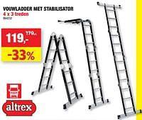 Vouwladder met stabilisator-Altrex