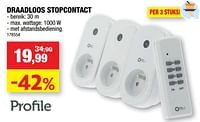 Draadloos stopcontact-Profile