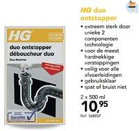 Hg duo ontstopper-HG