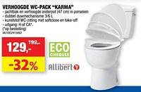 Verhoogde wc-pack karma-Allibert