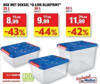 Box met deksel q-line blueprint-Sunware