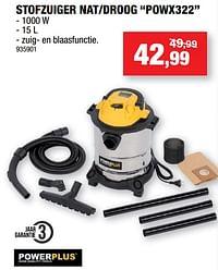 Powerplus stofzuiger nat-droog powx322-Powerplus