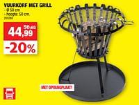 Vuurkorf met grill-Merk onbekend