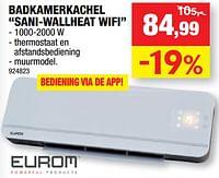 Eurom badkamerkachel sani-wallheat wifi-Eurom