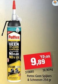 Pattex geen spijkers + schroeven-Pattex