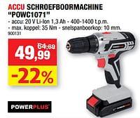 Powerplus accu schroefboormachine powc1071-Powerplus