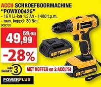 Powerplus accu schroefboormachine powx00425-Powerplus