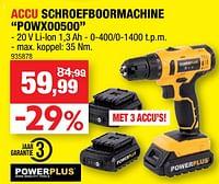 Powerplus accu schroefboormachine powx00500-Powerplus