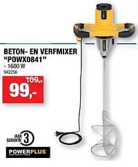 Powerplus beton- en verfmixer powx0841-Powerplus
