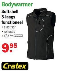 Bodywarmer softshell 3-laags functioneel-Cratex