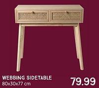 Webbing sidetable-Huismerk - Xenos