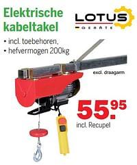 Lotus geräte elektrische kabeltakel-Lotus Geräte