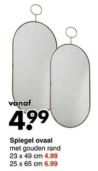 Spiegel ovaal-Huismerk - Wibra