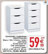 Commode - ladenkast westphalen-Huismerk - Cora