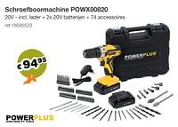 Powerplus schroefboormachine powx00820-Powerplus