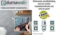 Watervaste wandbekleding-Dumawall