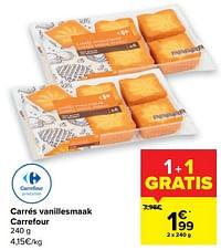 Carrés vanillesmaak carrefour-Huismerk - Carrefour