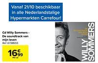 Cd willy sommers - de soundtrack van mijn leven-Huismerk - Carrefour