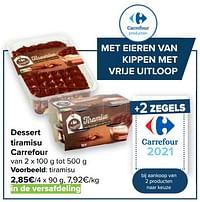 Dessert tiramisu carrefour-Huismerk - Carrefour
