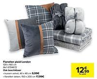 Flanellen plaid london-Huismerk - Carrefour