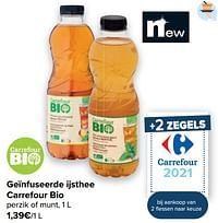 Geïnfuseerde ijsthee carrefour bio-Huismerk - Carrefour