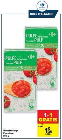 Tomatenpulp carrefour-Huismerk - Carrefour