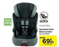Autostoel isofix racer london-Nania