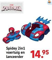 Spidey 2in1 voertuig en lanceerder-Spider-man