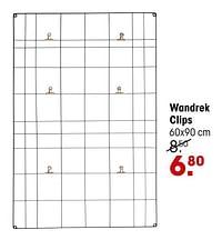 Wandrek clips-Huismerk - Kwantum
