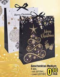 Geschenktas medium wit-Huismerk - Happyland