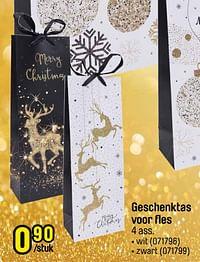 Geschenktas voor fles wit-Huismerk - Happyland