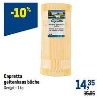 Capretta geitenkaas bûche-Capretta