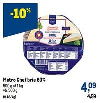 Metro chef brie 60%-Huismerk - Makro
