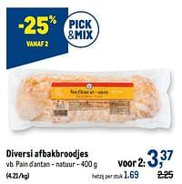 Diversi afbakbroodjes pain d`antan - natuur-Huismerk - Makro