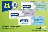 Oral-b pure activ tandpasta 0% fresh care-Oral-B