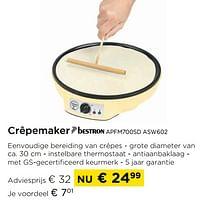 Crêpemaker bestron apfm700sd asw602-Bestron
