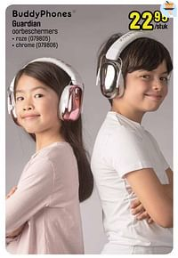 Guardian oorbeschermers roze-Buddyphones