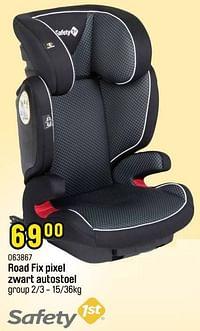 Road fix pixel zwart autostoel-Safety 1st