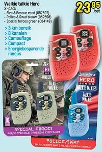 Walkie talkie hero fire + rescue rood-Cobra