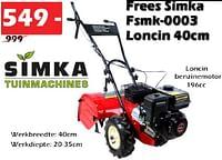 Frees simka fsmk-0003 loncin-Simka Tuinmachines