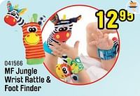 Mf jungle wrist rattle + foot finder-Playgro