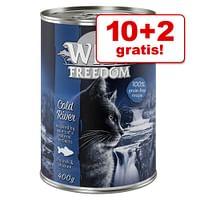 10 + 2 gratis! Wild Freedom Adult 12 x 200 / 400 g - Kip & zalm Megapack Wild Freedom (12 x 200 g)-Wild Burrow