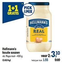 Hellmann`s koude sauzen mayo real-Hellmann