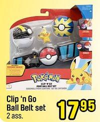 Clip 'n go ball belt set-Pokemon